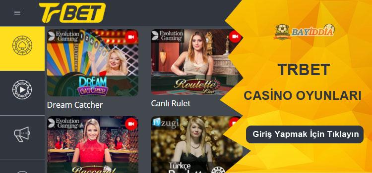 Trbet Canlı Casino ve Casino Oyunları