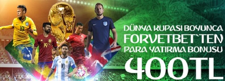 forvetbet 2018 dünya kupasına özel yatırım bonusu